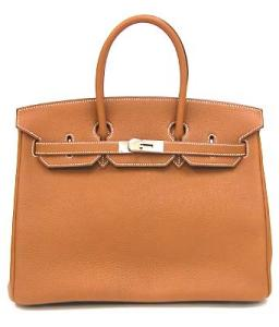 HERMES BIRKIN 35cm TAURILLON CLEMENCE GOLD / SILVER METAL FITTINGS